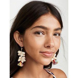 Bauble bar nalani shell drop tassel earrings